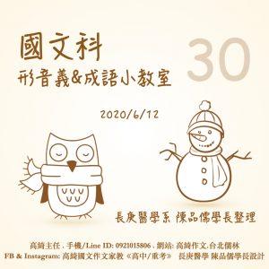 〔國文科〕形音義&成語小教室 第30回